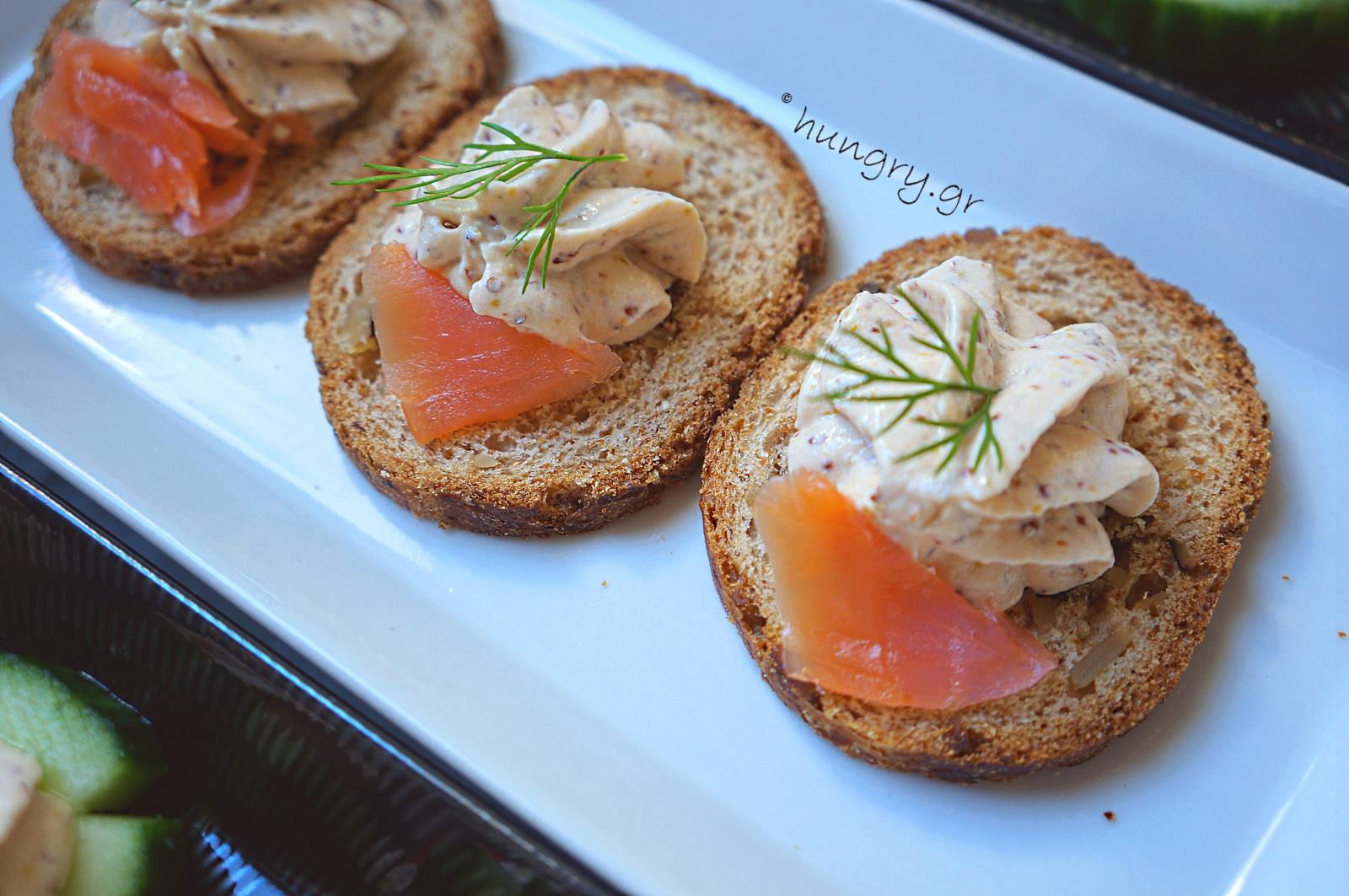 Kitchen stories smoked salmon mousse canap s for Smoked salmon mousse canape