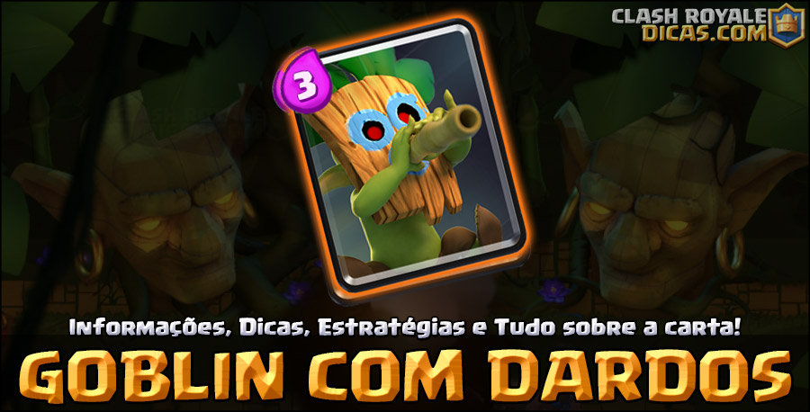Carta do Goblin com Dardos em Clash Royale