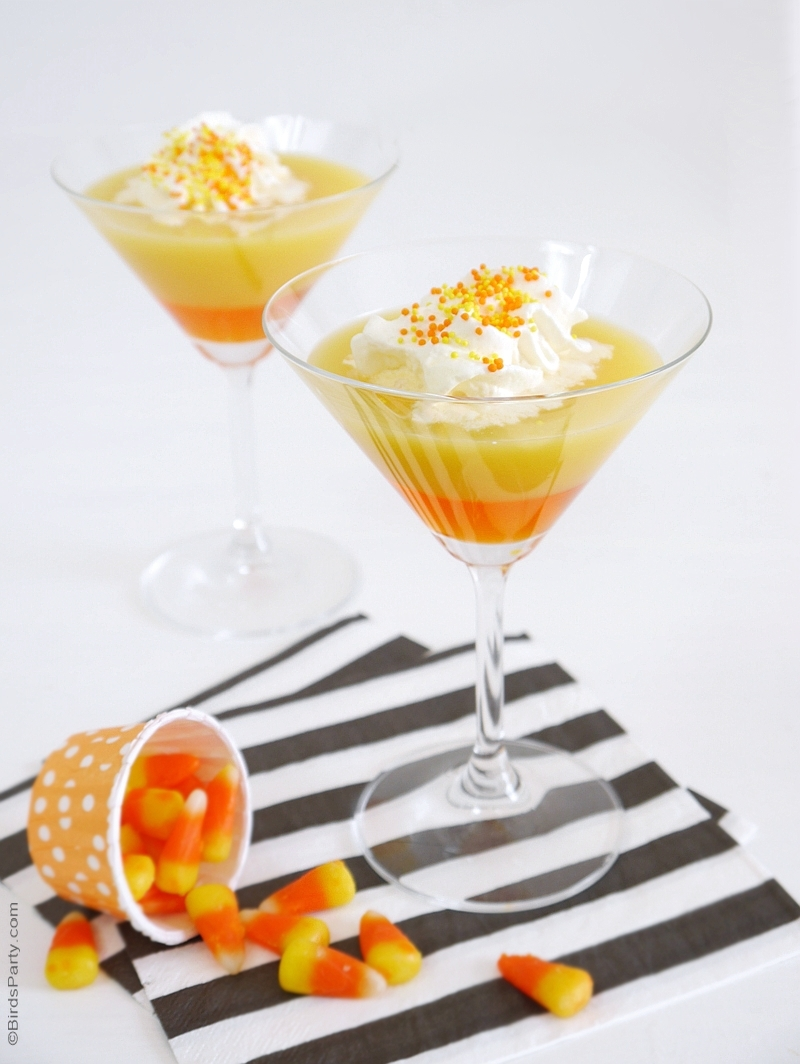 Cocktail d'Halloween Saveur Candy Corn | BirdsParty.fr