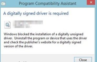 Digitally-signed-driver-is-required