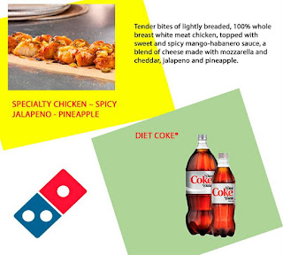 Diet Coke, Specialty Chicken - Spicy Jalapeno - Pineapple
