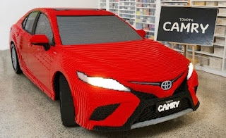 Assembling a TOYOTA CAMRY FROM 500 MILLIONS OF LEGO PAPER - Modern Moto Magazine