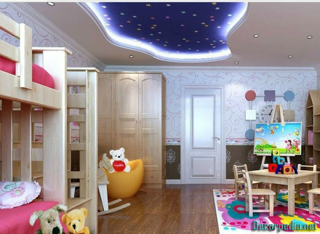 kids room ceiling designs and ideas, stretch ceiling for kids room