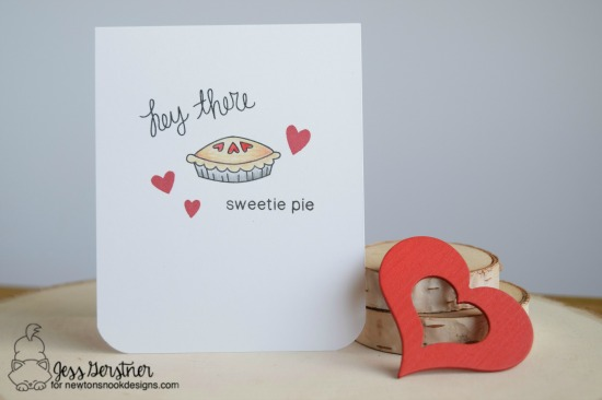 Sweetie Pie card by Jess Gerstner | Love a la Carte stamp set by Newton's Nook Designs #newtonsnook