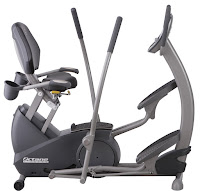 Octane Fitness xR4x Recumbent Elliptical Trainer, with Power Stroke technology, 20 resistance levels, Workout Booster for HIIT training