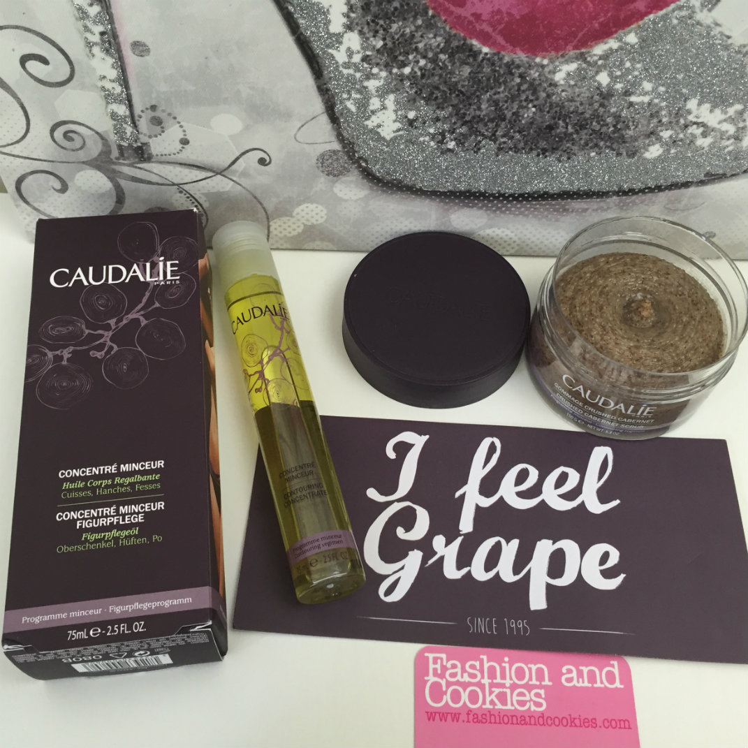 Caudalie Concentré Minceur and Gommage Crushed Cabernet: beauty slimming products that work on Fashion and Cookies beauty blog, beauty blogger