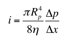 An equation for flow through a pipe.