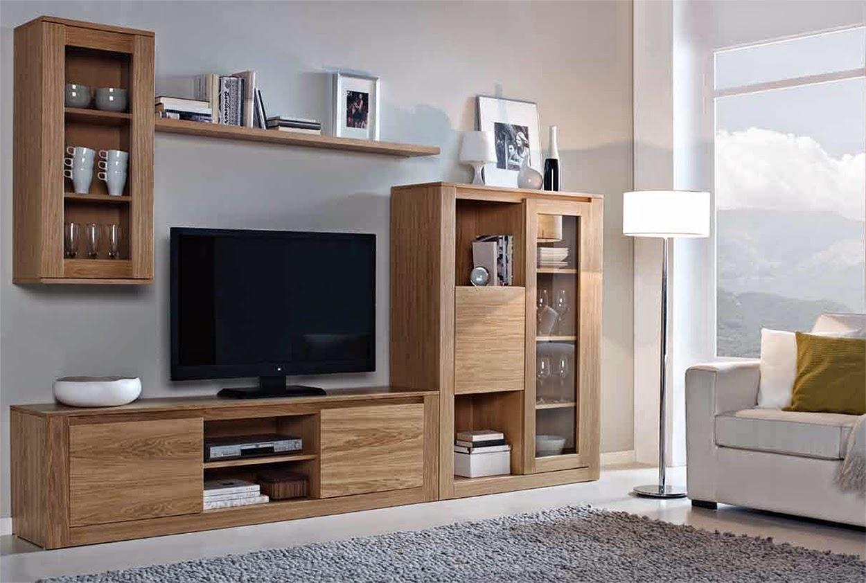 Muebles de sal n 5 composiciones modulares de madera para for Muebles salon modulares madera
