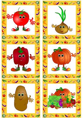 English learning flashcards - topic vegetables