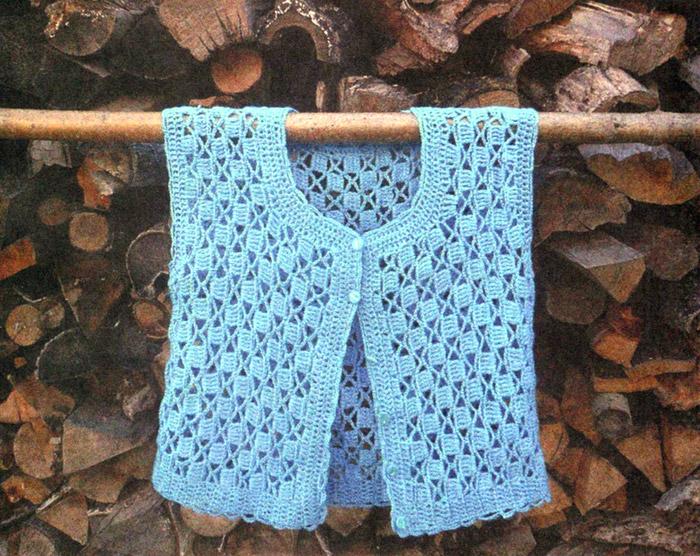 Вязаный жилет  Vest - Crochet
