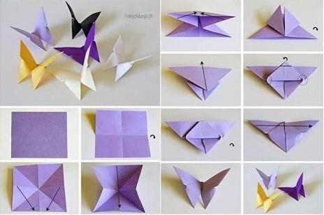 Membuat Origami Kupu-Kupu