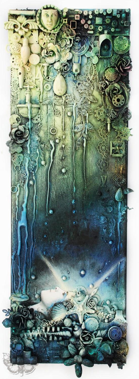 Finnabair: Industrial Ophelia - mixed-media collage