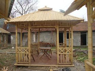 contoh gazebo dari bambu sederhana