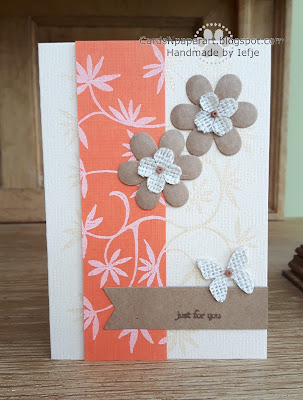 Aladine Fleurieux stamp and Papermania burlap mini flowers