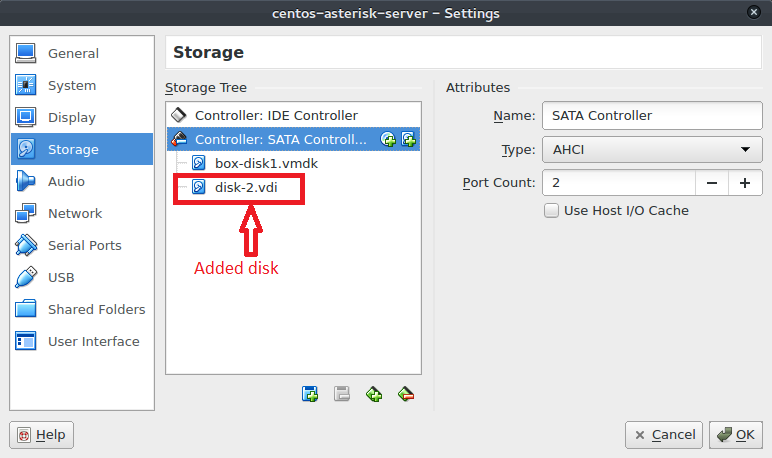 How to Add Extra Hard Disk to VirtualBox VM and set Automount