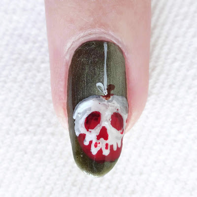 Poisoned Apple Nail Art