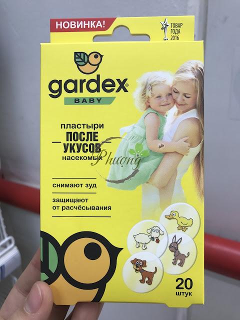 Miếng dán Gardex dành cho bé sau khi bị côn trùng và muỗi cắn