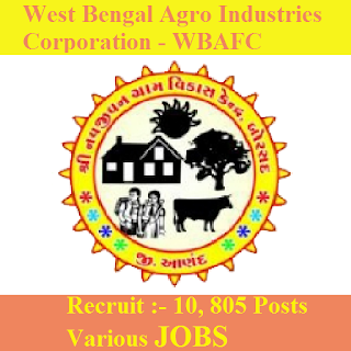 10th, freejobalert, Hot Jobs, Latest Jobs, Sarkari Naukri, WB, WBAFC, West Bengal, West Bengal Agro Industries Corporation, wbafc logo