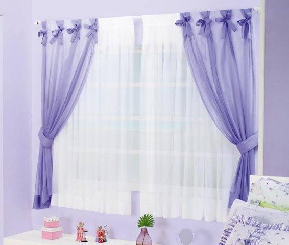 Impressive Purple And White Curtains