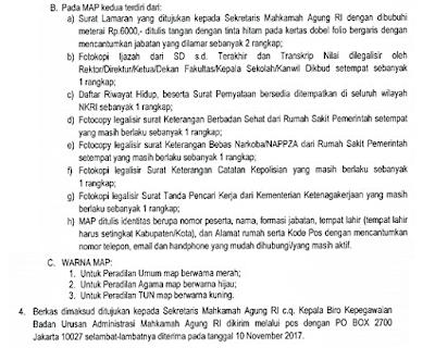Tata Cara Pendaftaran CPNS Calon Hakim MA Mahkamah Agung 2017