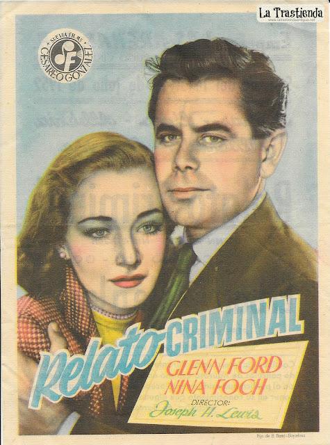 Relato Criminal - Programa de Cine - Glenn Ford - Nina Foch