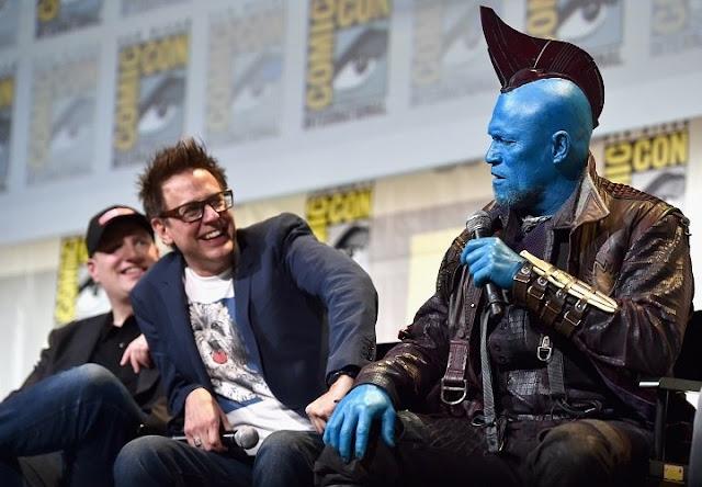 Gunn y Michael Rooker como Yondu en la Comic-Con