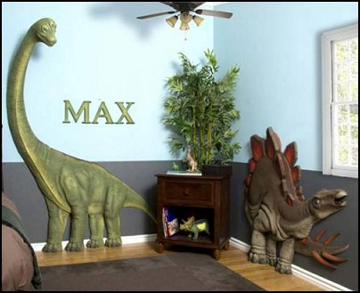 Decorating theme bedrooms maries manor dinosaur themed for Dinosaur themed kids room