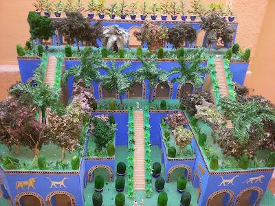 Resultado de imagem para jardins suspensos da babilonia maquete