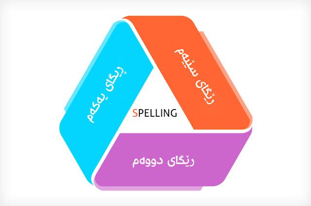 سێ ڕێگا بۆ فێربونی شێوازی نوسین(Spelling) له زمانی ئینگلیزی