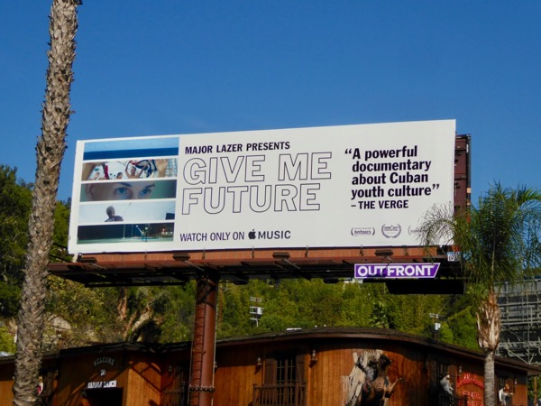 Give Me Future documentary billboard