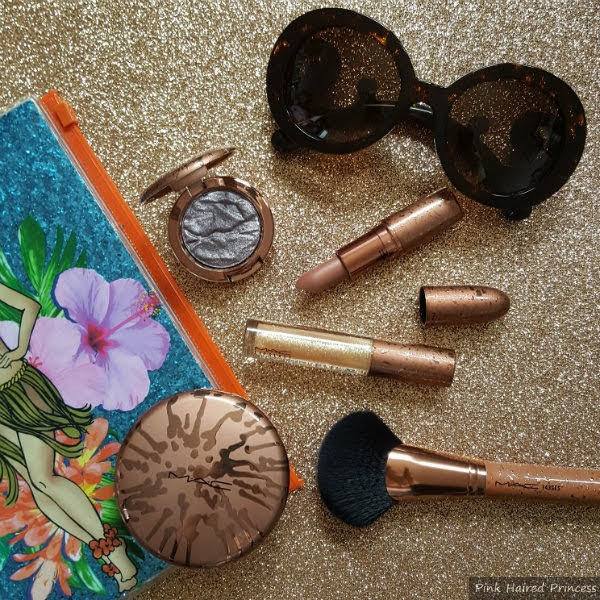 cosmetics on glitter backdrop, limited edition