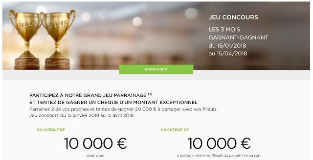 Grand jeu concours Fortuneo avec 10 000 euros à gagner