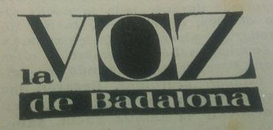 Logotipo del semanario La Voz de Badalona
