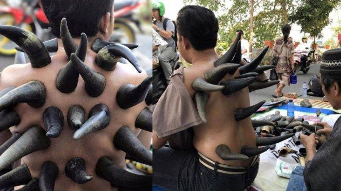 Tubuhnya Penuh Tanduk, Ternyata Pria Ini Lakukan Hal Tak Biasa di Pinggir Jalan