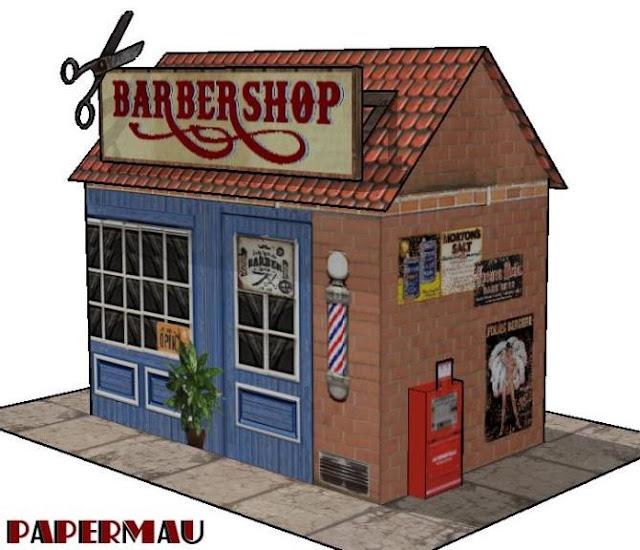 The Barber Shop Paper Model