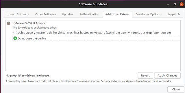 Ubuntu additional drivers