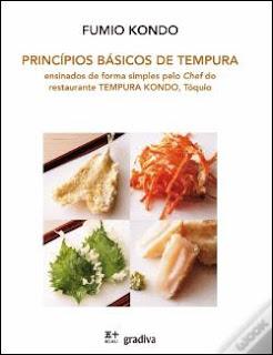 Livro de Cozinha com Receitas de Tempura e técnicas de preparação passo-a-passo