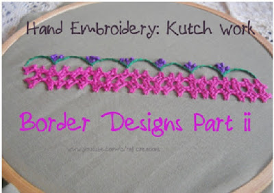 how to stitch double(twin) border design in kutch work