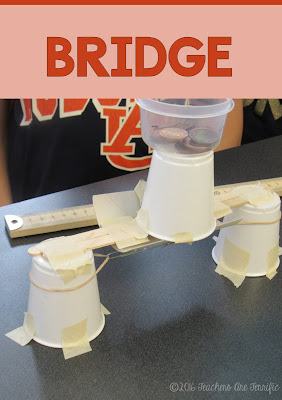 STEM Challenge Mystery Build: Each team builds something different. They must choose the materials needed for the task and stay within a budget! A bridge is one of the tasks! FREEBIE!