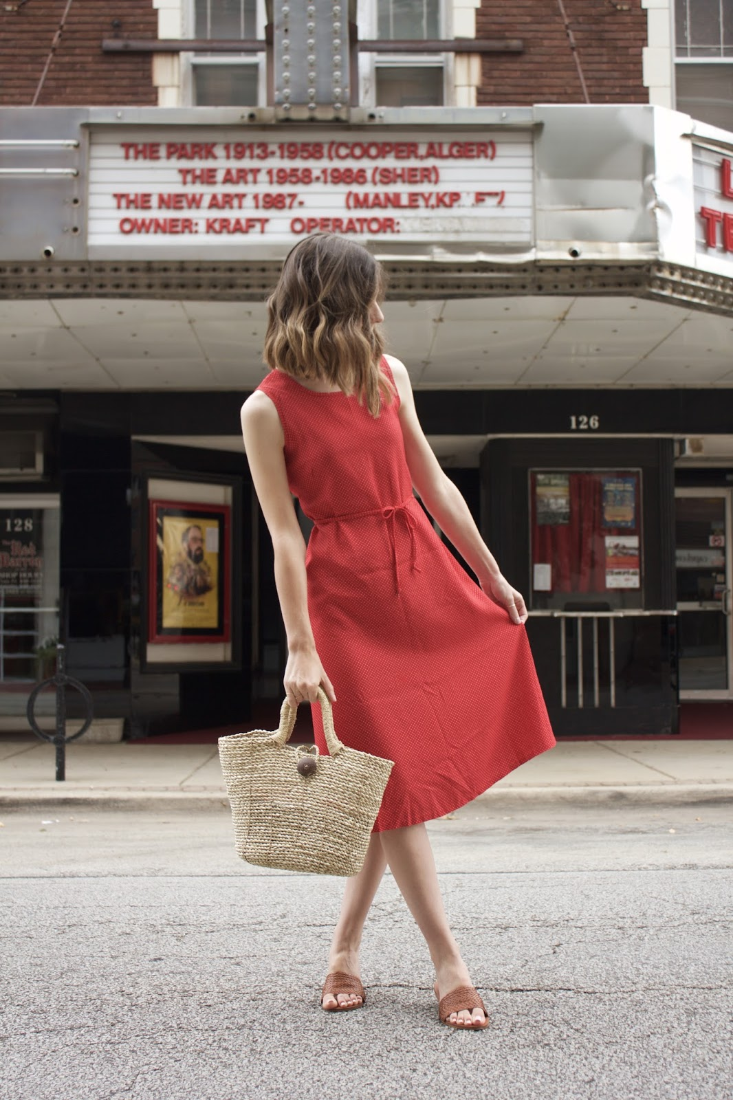 brown basket bag