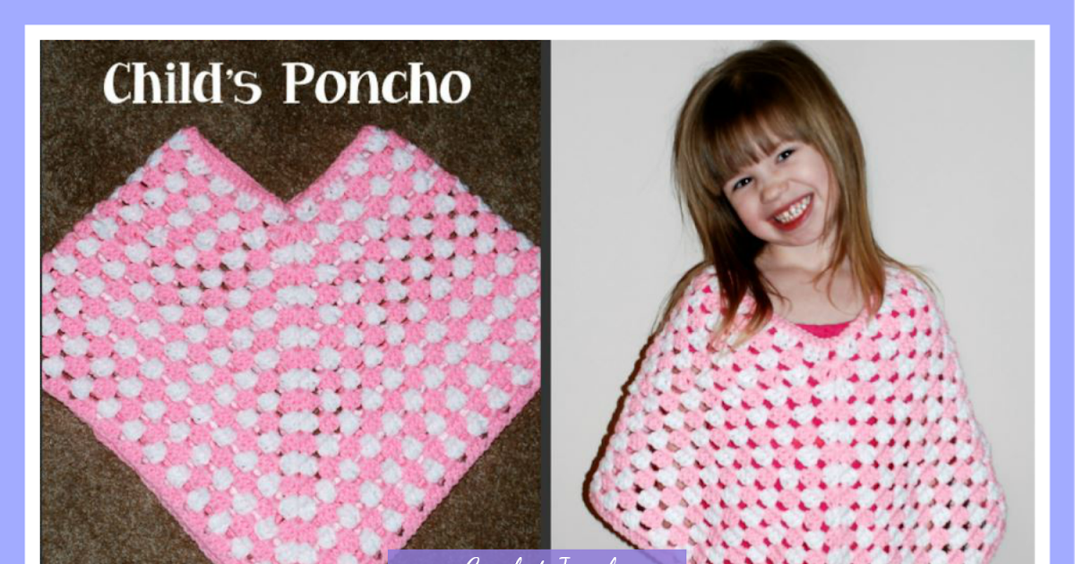 Amys Crochet Creative Creations Crochet Childs Poncho Tutorial