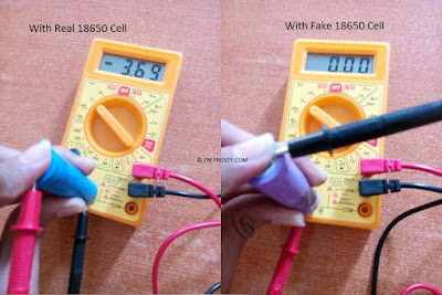 measure cells withh multimeter