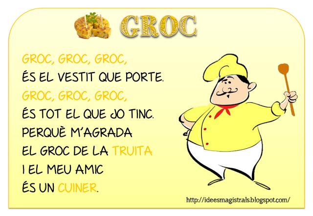 Resultado de imagen de CANÇOP COLOR GROC