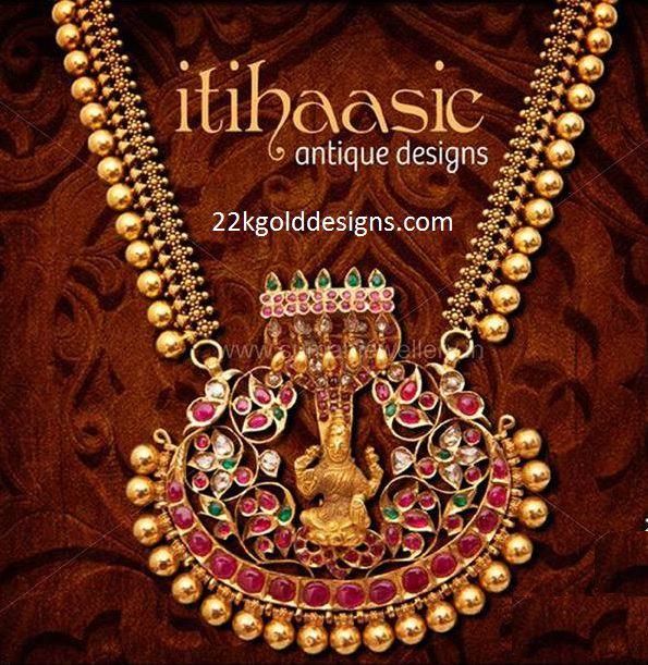 Traditional Haram with Lakshmi Pendant