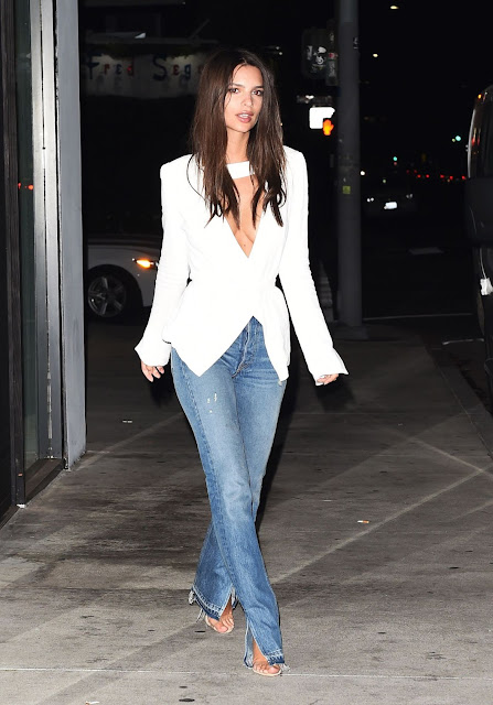 Emily Ratajkowski Night Out Style – Los Angeles