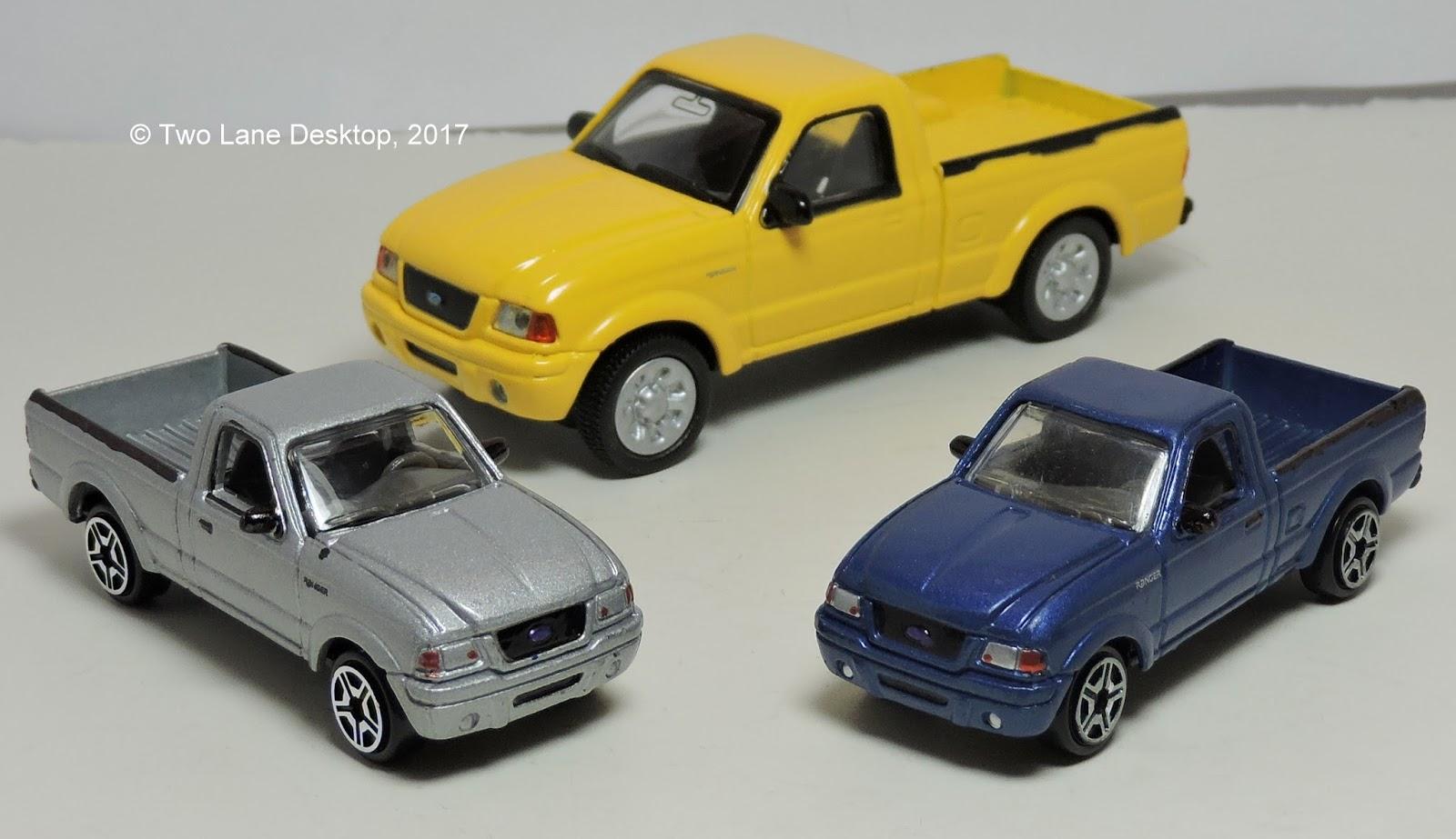 Two Lane Desktop: Motormax 1:43 And 1:64 2001 Ford Ranger
