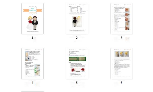 Patrón en PDF de los novios de amigurumi