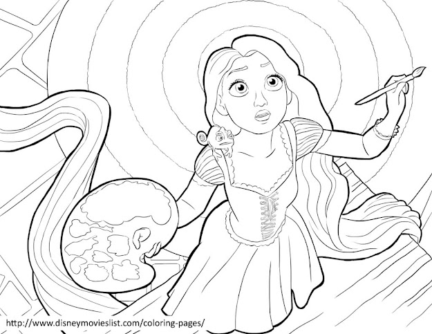 Tangled Coloring Pages  Disney Tangled Coloring Pages Sheet Free Disn