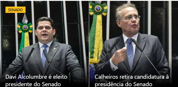 """Senador Davi Alcolumbre vence o """"Golias"""" Renan Calheiros"""