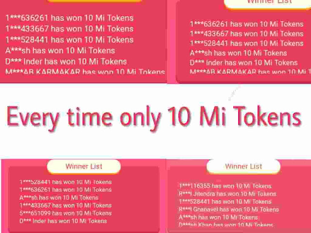 Why everytime I get 10 Mi Tokens?